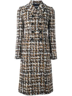 твидовое пальто миди Dolce & Gabbana