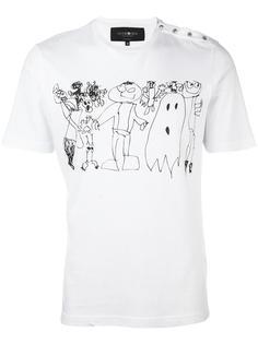 футболка с принтом детского рисунка Hydrogen