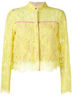 укороченная кружевная блузка MSGM