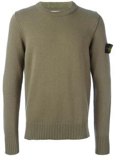пуловер с нашивкой на рукаве Stone Island