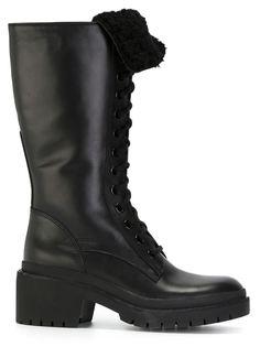 ботинки в стиле милитари  Marc By Marc Jacobs