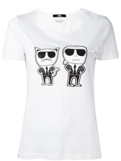 футболка 'Karl and Choupette' Karl Lagerfeld
