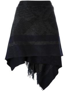 юбка с запахом и бахромой Vivienne Westwood Red Label