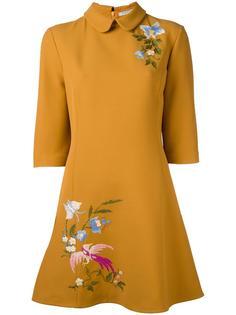 платье-шифт с цветочной вышивкой Vivetta
