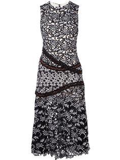 жаккардовое платье с цветочным узором Self-Portrait