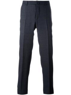брюки кроя слим со складками Ermenegildo Zegna