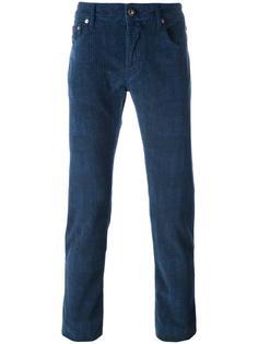 джинсы кроя слим с узором в клетку Jacob Cohen