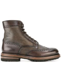 ботинки броги на шнуровке Santoni