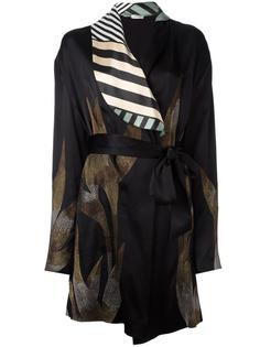 атласное кимоно с вышивкой Attico