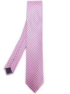 галстук с узором кружочков Ermenegildo Zegna