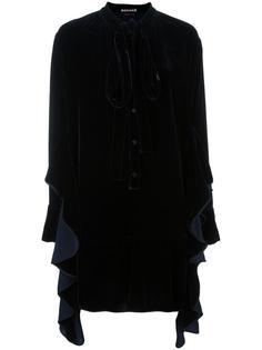 платье-рубашка с оборками Rochas