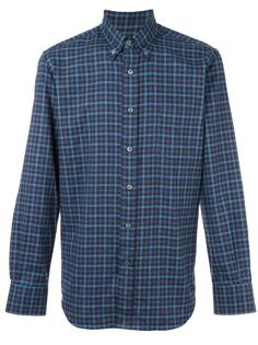 slim-fit checked shirt Canali