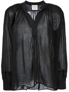 band collar sheer blouse  Forte Forte