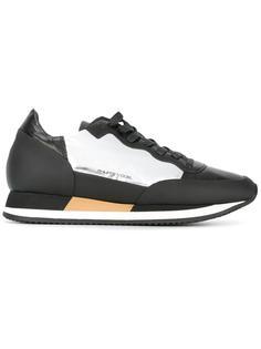 кроссовки с панелями металлик Philippe Model