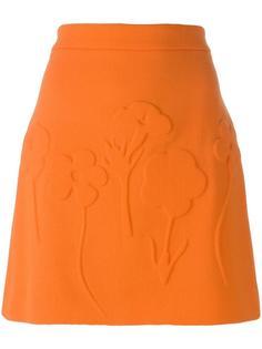 юбка мини А-образного силуэта Victoria Beckham