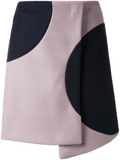 асимметричная юбка с запахом MSGM