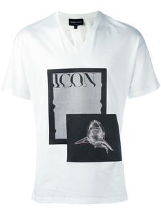 футболка с принтом 'Icon Shark' Emporio Armani