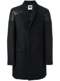 однобортное пальто Les Hommes Urban