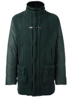 zip up padded coat Baldinini