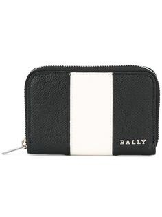 striped zip up wallet Bally