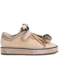 croc embossed sneakers Nicholas Kirkwood