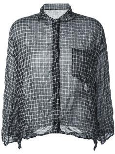 рубашка в клетку Pleats Please By Issey Miyake