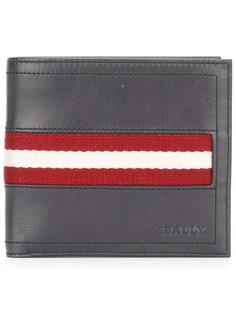striped detailing flat wallet Bally