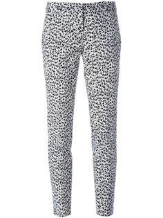 зауженные брюки с животным принтом Michael Michael Kors