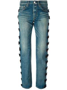 джинсы бойфренд с декоративными бантами  Tu Es Mon Tresor