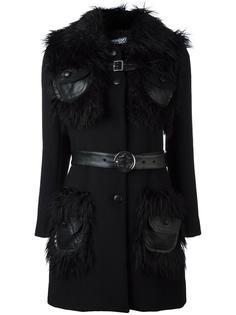 пальто с меховым воротником Jeremy Scott