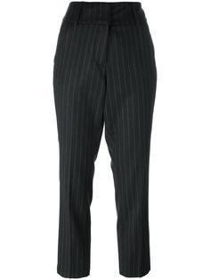 укороченные брюки в тонкую полоску Dondup