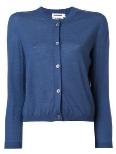 round neck buttoned cardigan Jil Sander