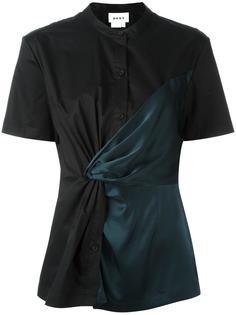 рубашка с перекрученной деталью DKNY