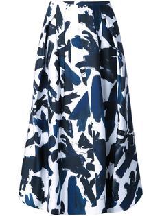 brushes printed skirt Jil Sander