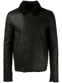 кожаная куртка с подкладкой из овчины Lot78