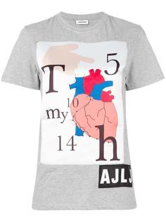 heart print T-shirt Au Jour Le Jour