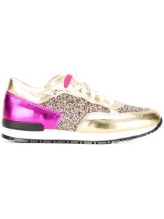 кроссовки с блестящими панелями Pollini