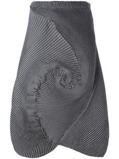 асимметричная юбка в рубчик Issey Miyake Men