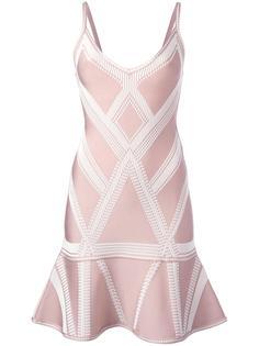 жаккардовое платье с заниженной талией Hervé Léger