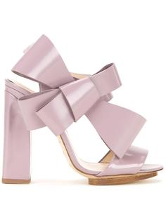 oversized bow sandals Delpozo