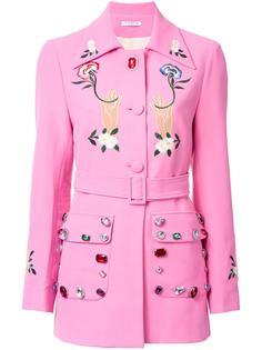 embellished belted jacket Vivetta