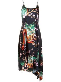 асимметричное платье с принтом Paco Rabanne