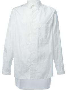 рубашка с вырезами на рукавах Yohji Yamamoto