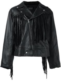 fringed biker jacket Aries