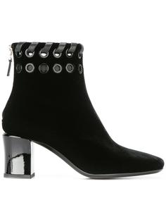 ботинки по щиколотку с люверсами Fendi