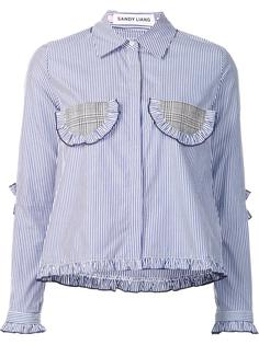 striped ruffled detailing shirt Sandy Liang
