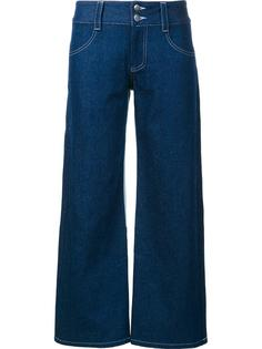 wide leg cropped jeans Sandy Liang