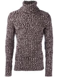 меланжевый джемпер с отворотной горловиной Dolce & Gabbana