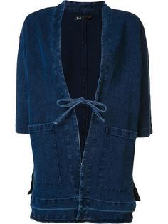 patch pocket long denim jacket 3X1
