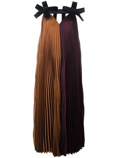 velvet bow pleated dress Roksanda